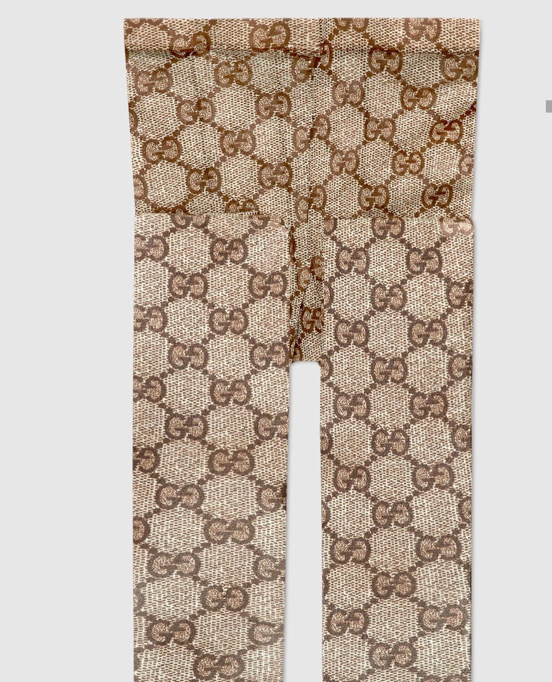 Image of 'GG Brown Interlock' Tights (S-L) PREORDER