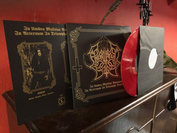 Image of Abruptum - In Umbra Malitiae Ambulabo... Bloodred LP