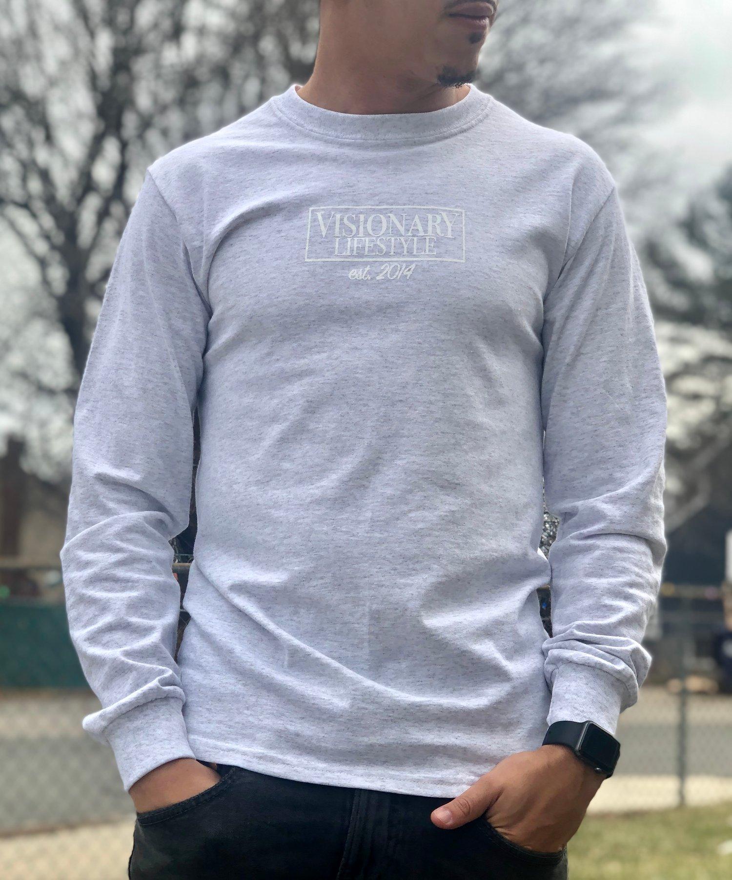 Image of Ash Grey Logo Long Sleeve T-shirt