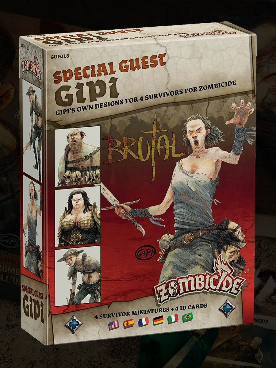 Image of Bruti per Zombicide: 4 Miniature + 4 ID Cards