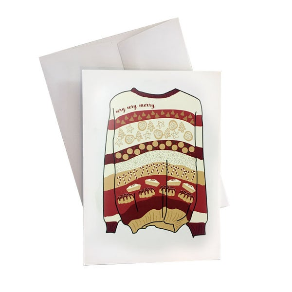 Image of Very Merry Sweater Card