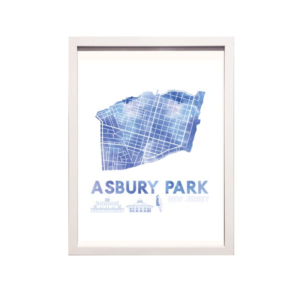 Image of Asbury Park NJ Art Print