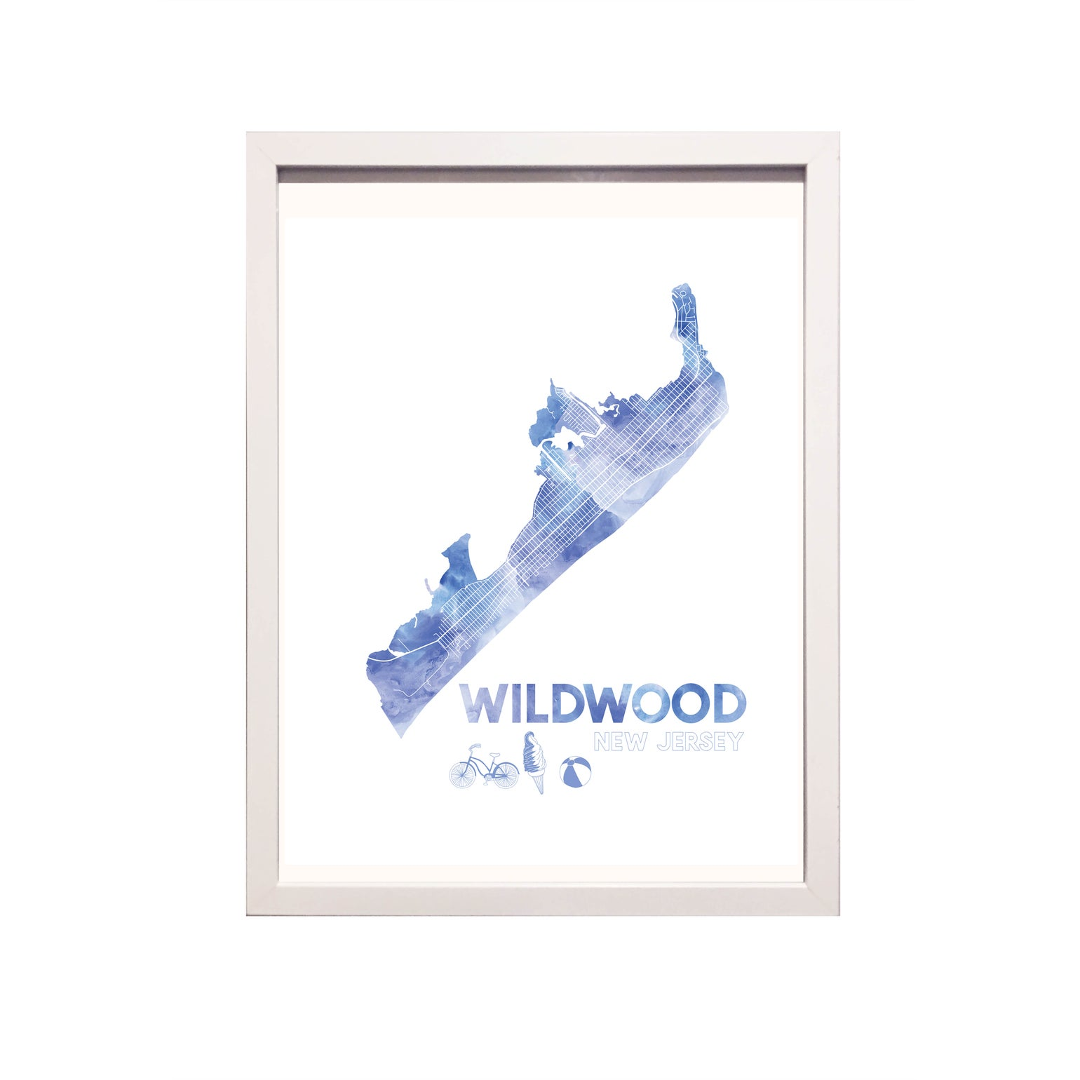 Image of Wildwood NJ Art Print