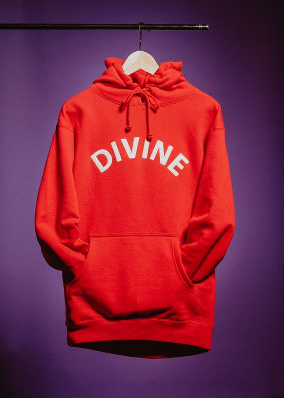 Image of ARCH LOGO HOODIE (RED)