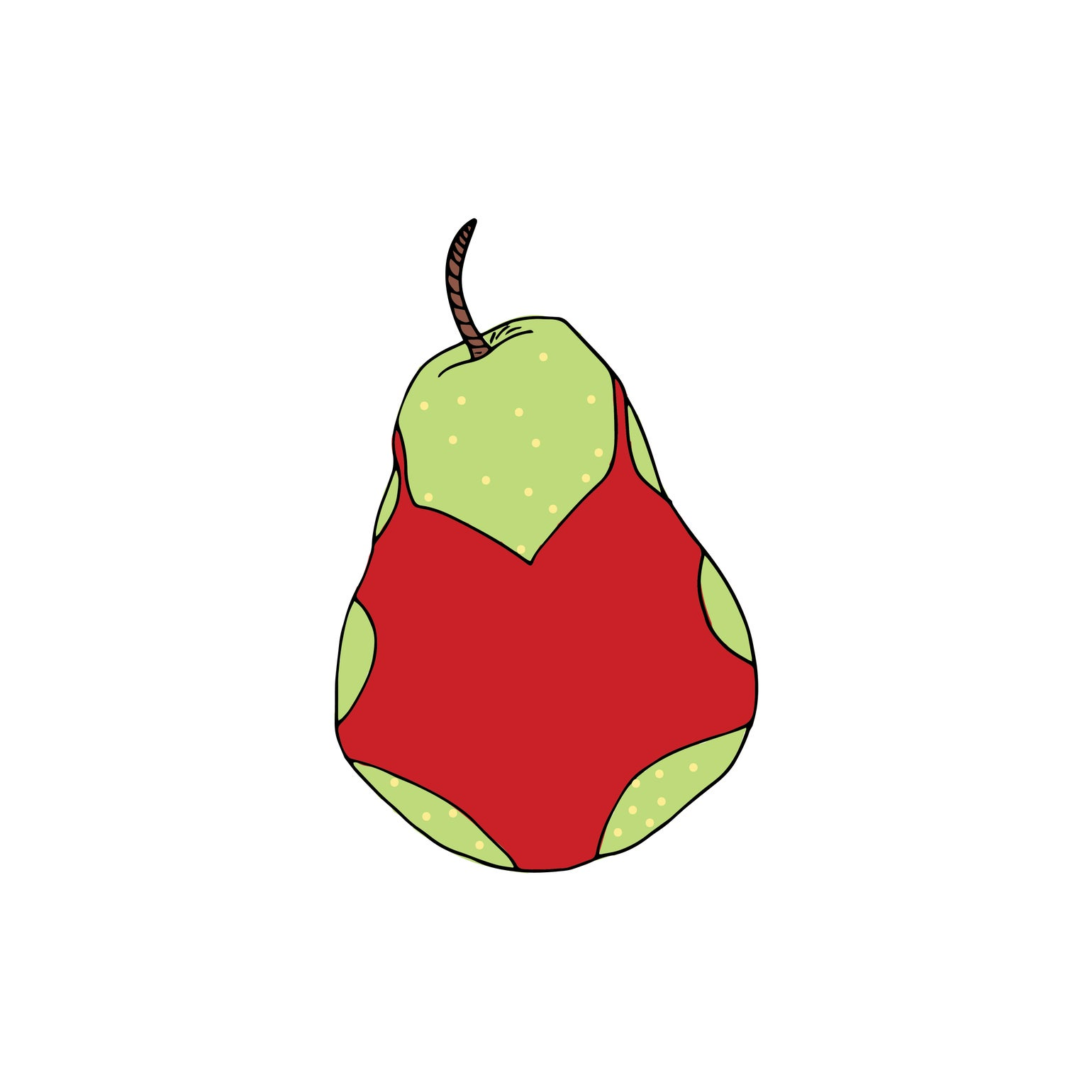 Image of Pear Swimsuit Sticker