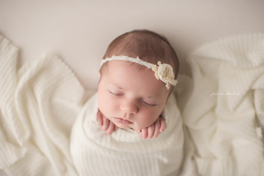 Image of All Wrapped Up Newborn Mini | a neutral in style baby only session