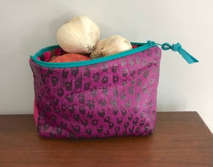 Image of Fucshia, pink and green pouch