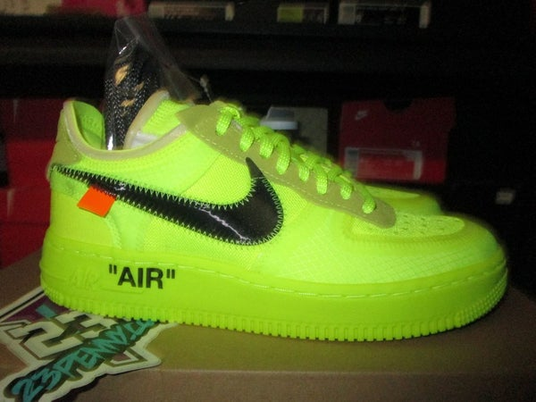 "Air Force 1 Low x off-White ""Volt"" - areaGS - KIDS SIZE ONLY"