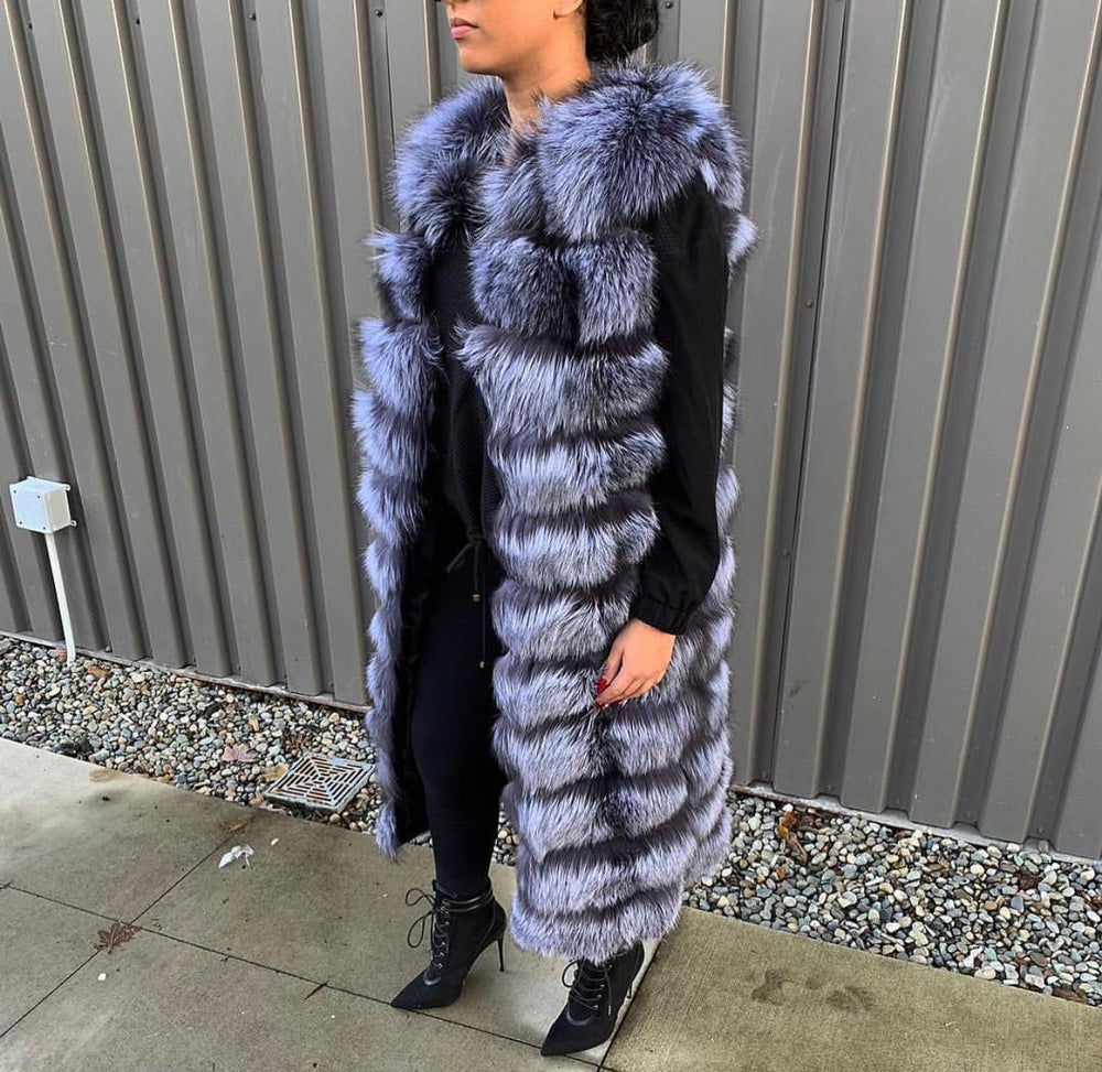 Image of Silver Fox Fur Vest