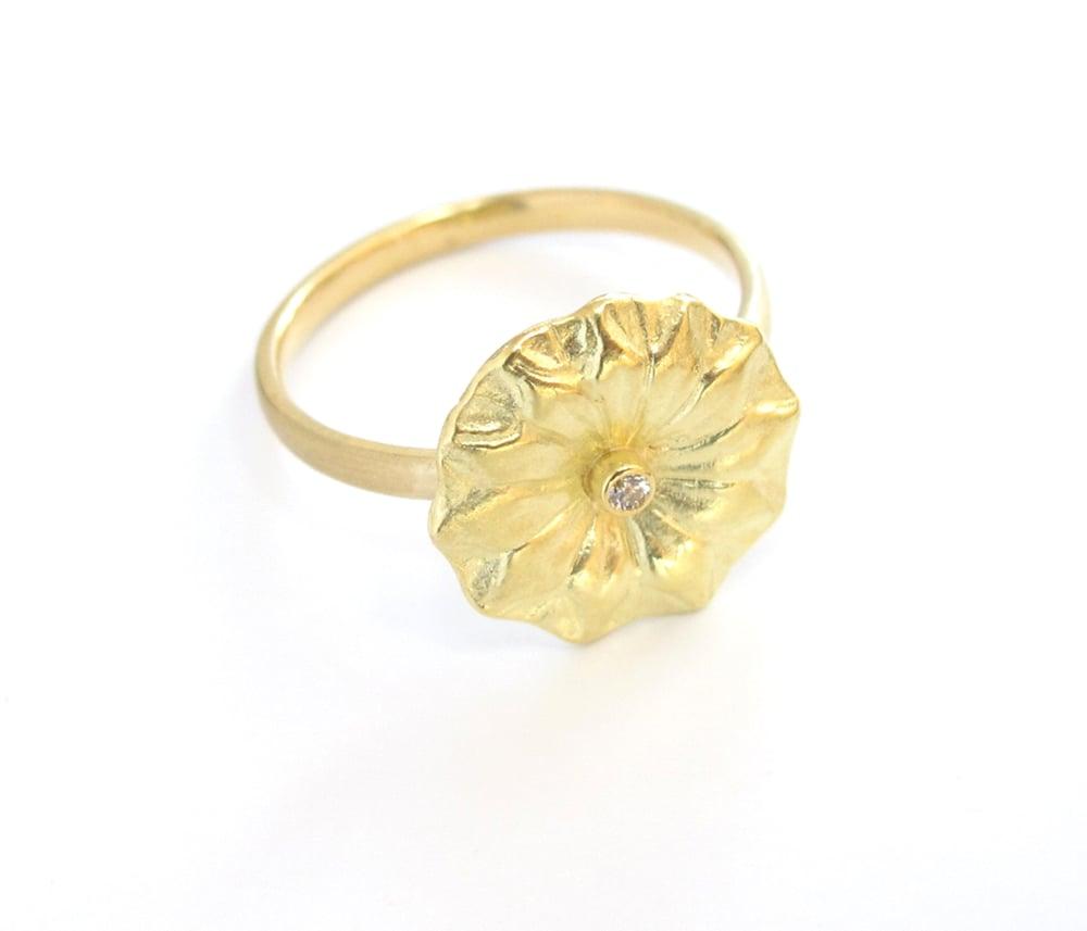 Image of Lotus Leaf Diamond Ring