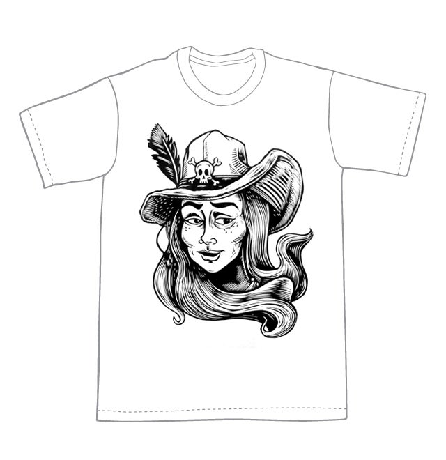 Image of Bonny the Pirate T-shirt **FREE SHIPPING**