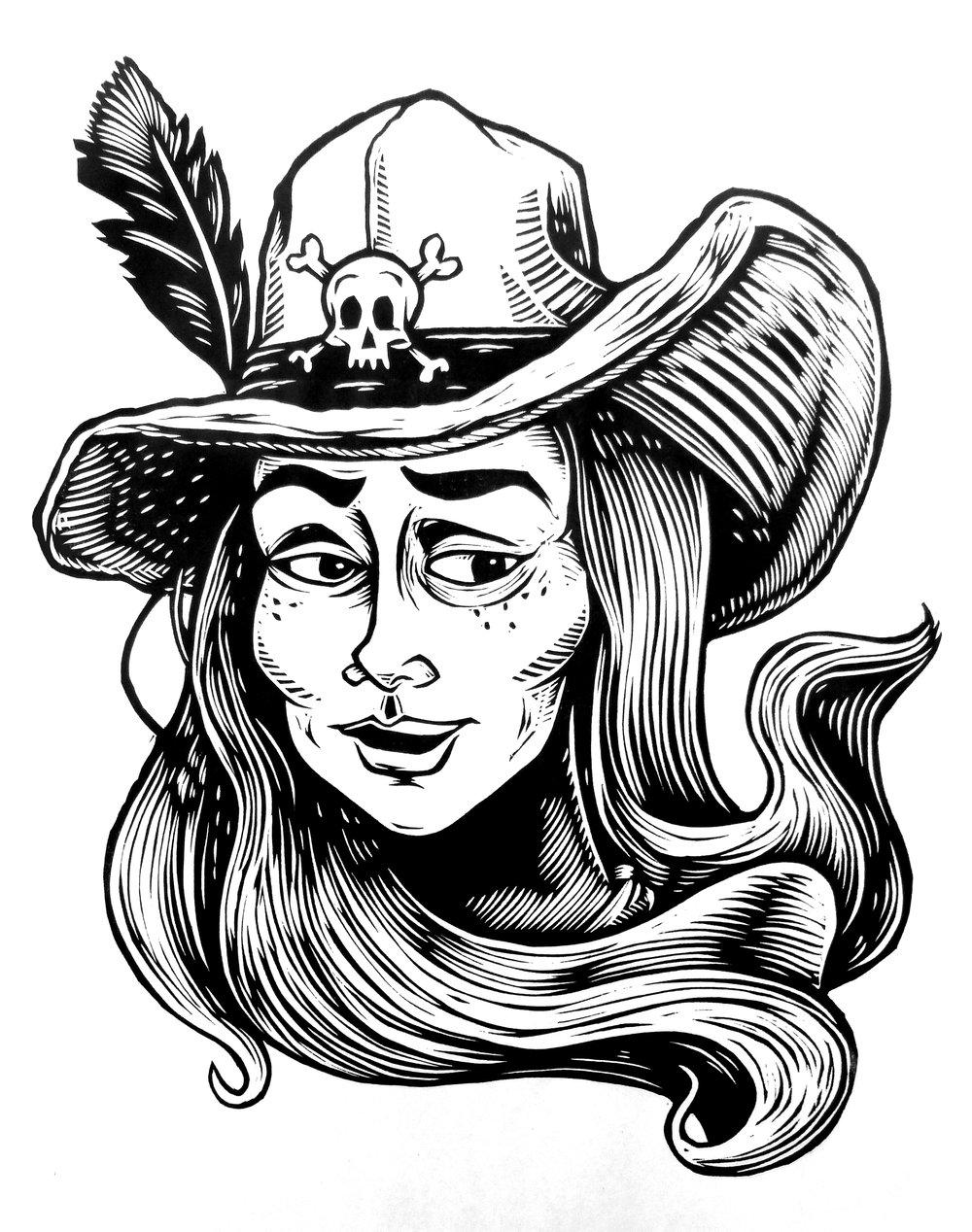 Bonny the Pirate T-shirt (B2) **FREE SHIPPING**