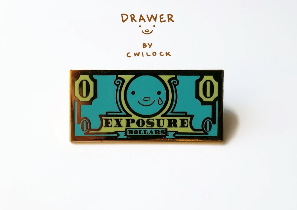 Image of Exposure dollars enamel pin