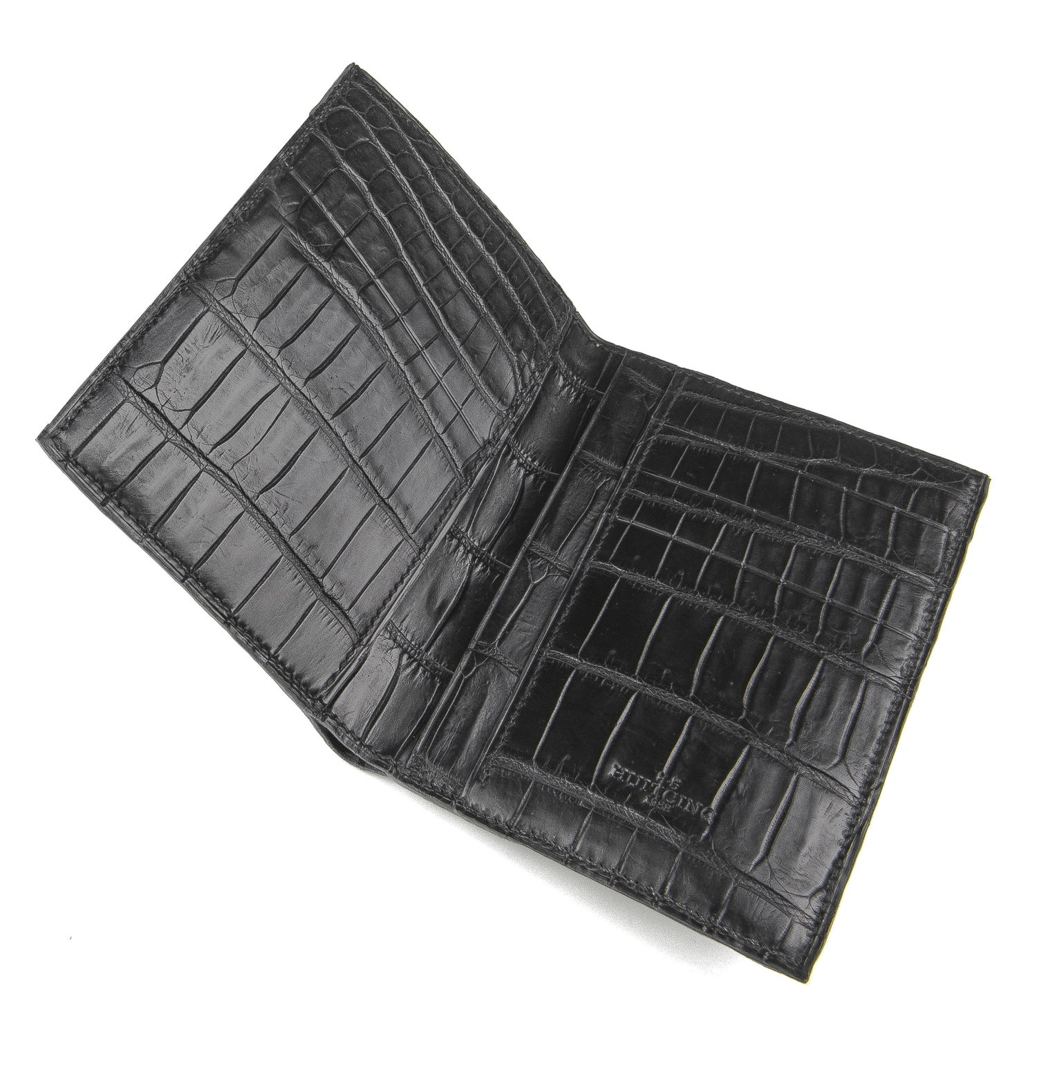 Image of Mod. Marco Double crocodile wallet / matte black