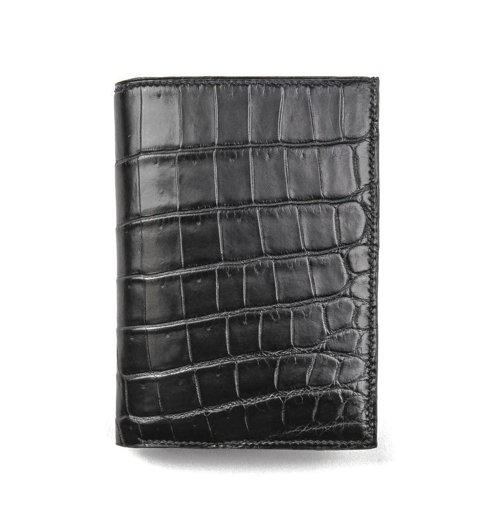Image of Double crocodile wallet / Mod. Marco - matte black