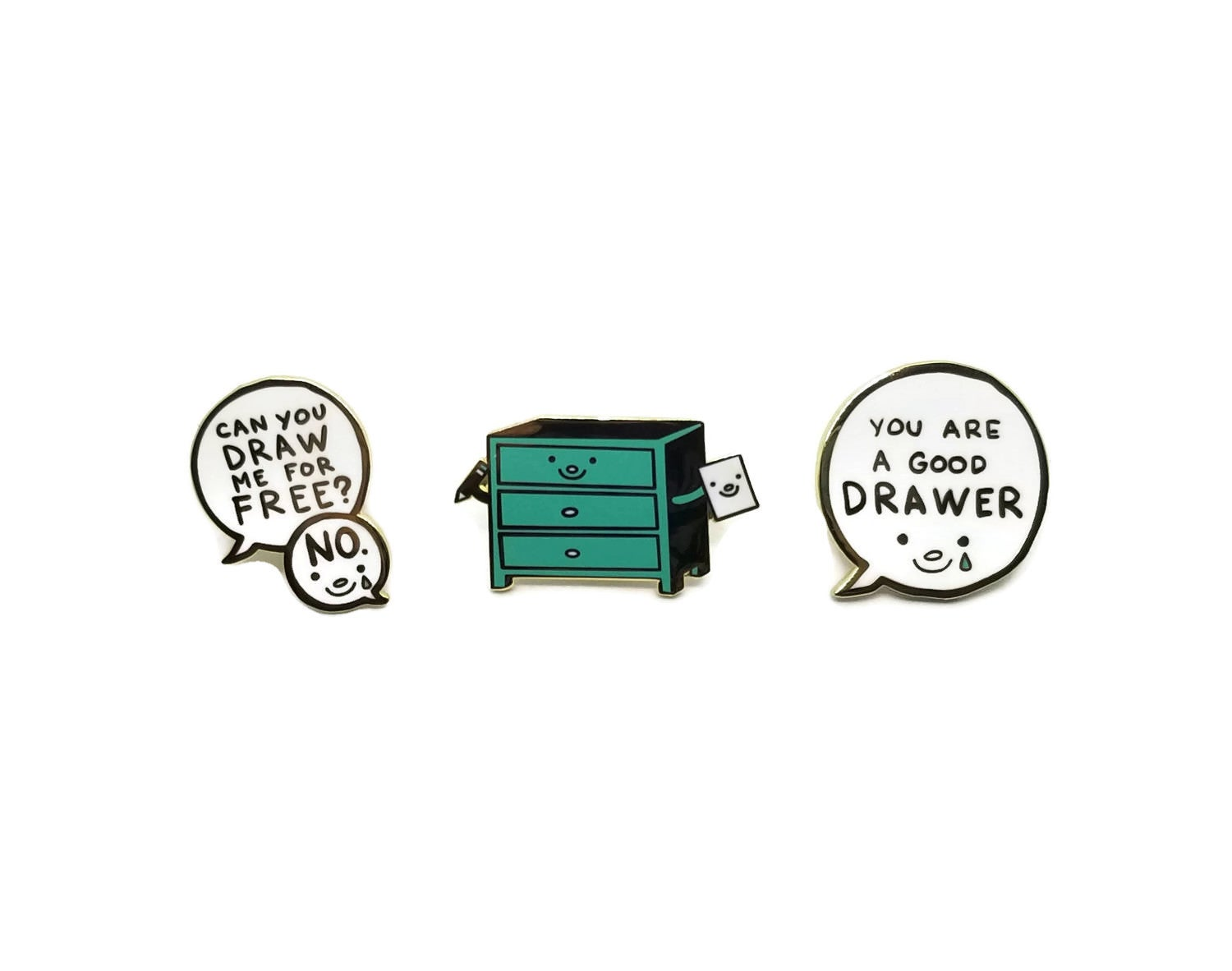 Image of DRAWER enamel pins