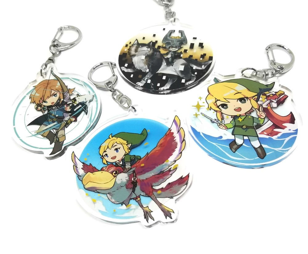 Image of LOZ Foil Acrylic charms
