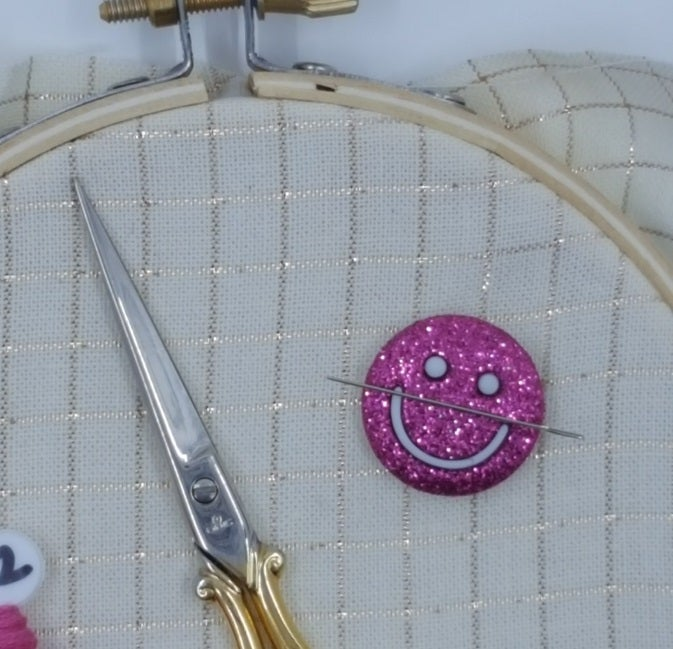 Image of Needle Minder - Purple Smiley Face