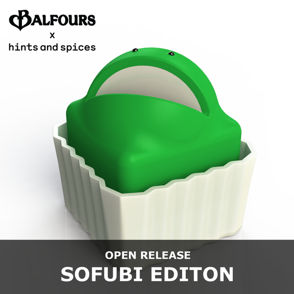 PRE-ORDER: Frog Cake sofubi - full size - Hints and Spices