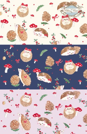 Image of Little Hedgehogs with Little Ribbons- Cream