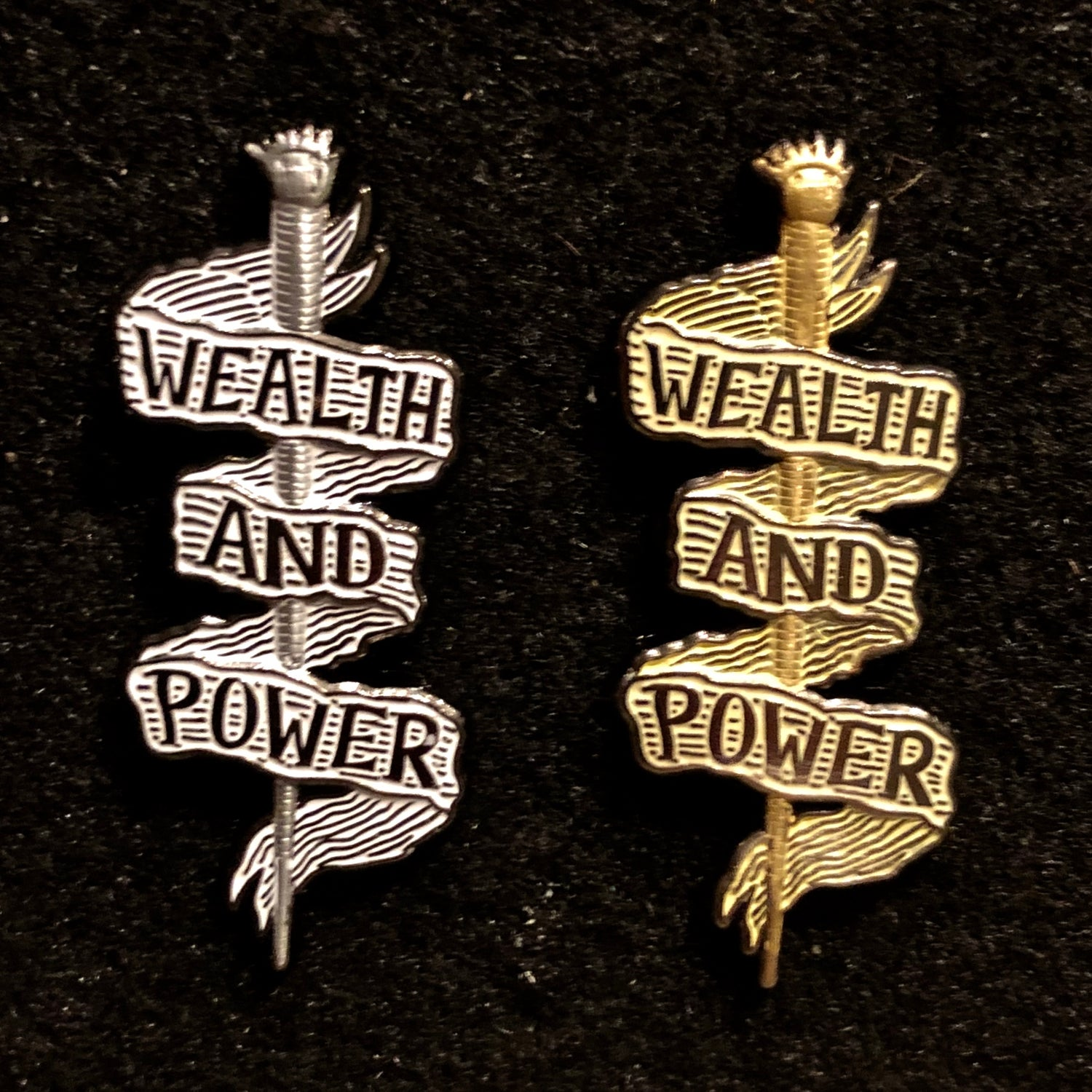 Image of Scepter of Wealth and Power pins