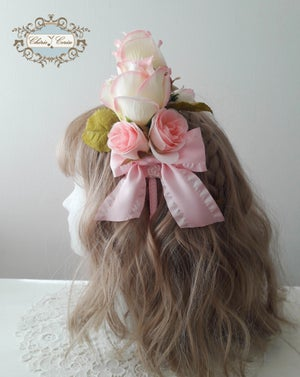 Image of Large Roses Headress - Pink