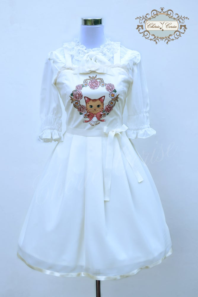 Image of Classic Kitty Dress -Cream