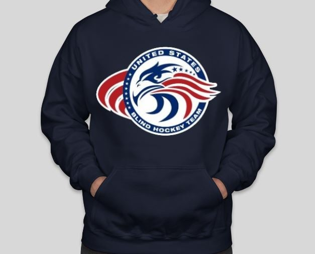 Image of USA Blind Hockey Hoodies - SHIPPING INCLUDED!
