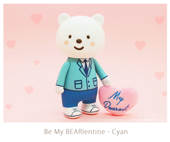 Image of Ordinary Style - Be My BEARlentine (Cyan)