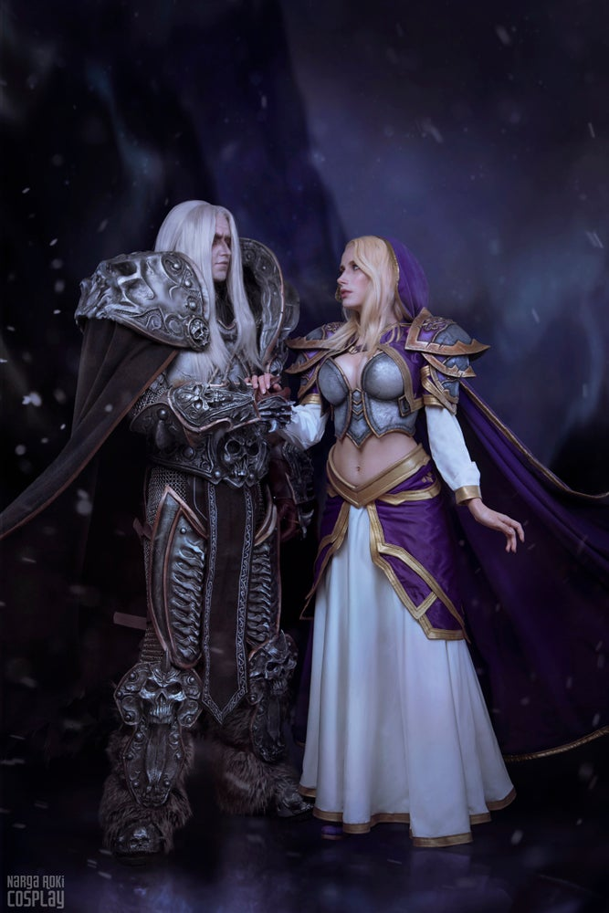 Image of Arthas and Jaina romantic print/poster
