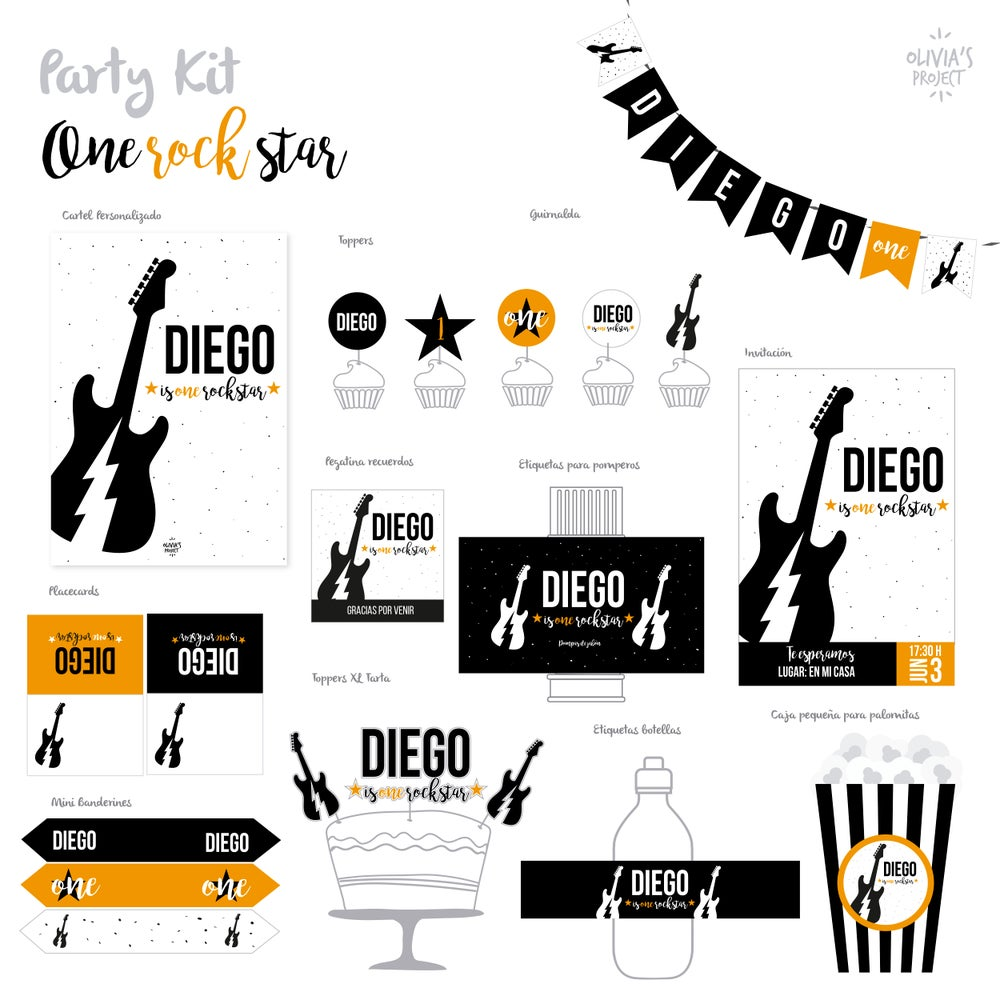 Image of Party Kit One Rock Star
