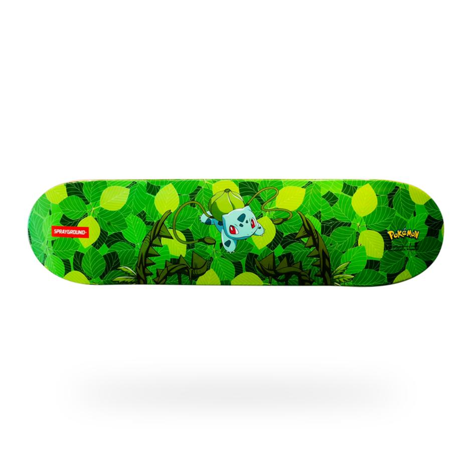 Image of SPRAYGROUND Pokemon Bulbasaur Graphic Skateboard Deck