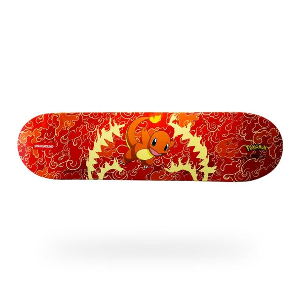 Image of SPRAYGROUND Pokemon Charmander Graphic Skateboard Deck