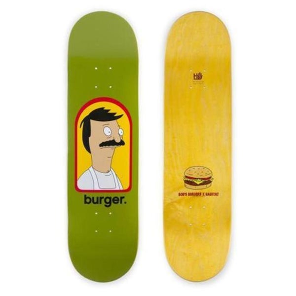 "Image of Habitat Bob's Burgers Burger 8.00"" Skateboard Deck Green"