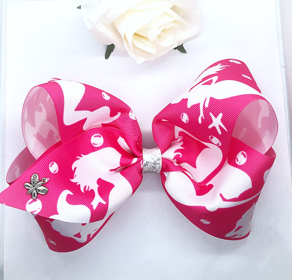 Image of Huge JJ style mermaid classic bow