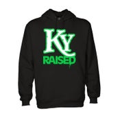 Image of KY Raised Hoodie in Black / White / Kelly Green