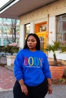 Image 1 of BODY Sweatshirt (Multi-Color)- BLUE