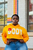 Image of 'BODY' Crop Hoodie GOLD