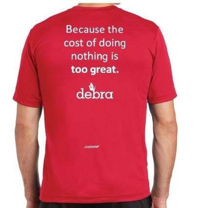 Image of TEAM DEBRA Athletic Training T-Shirt (short sleeve)