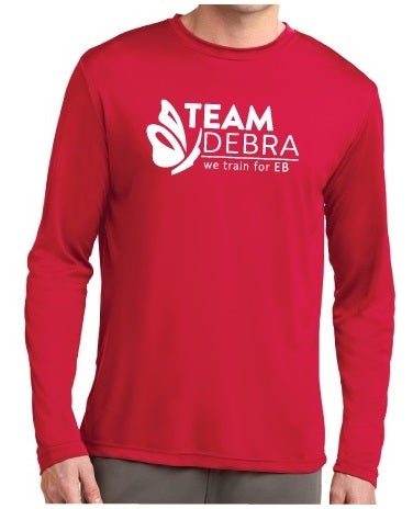 Image of TEAM DEBRA Athletic Training T-Shirt (long sleeve)