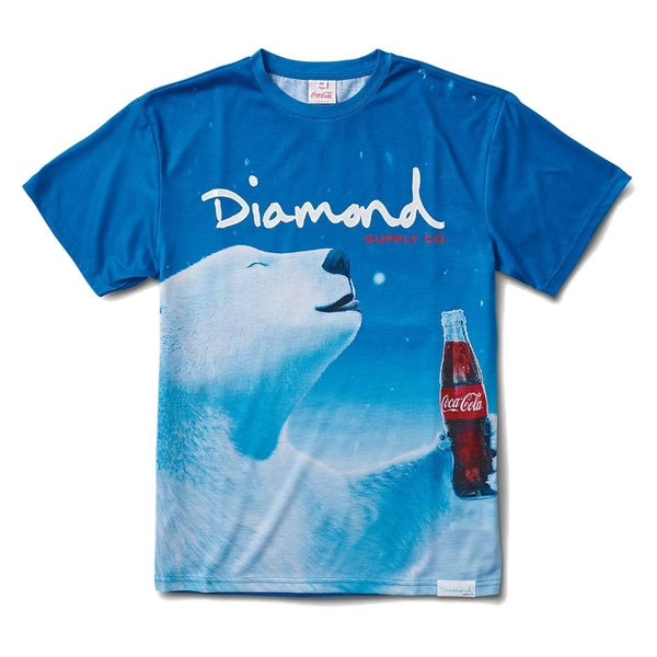 Image of Diamond x Coca Cola Polar Bear T-Shirt Blue