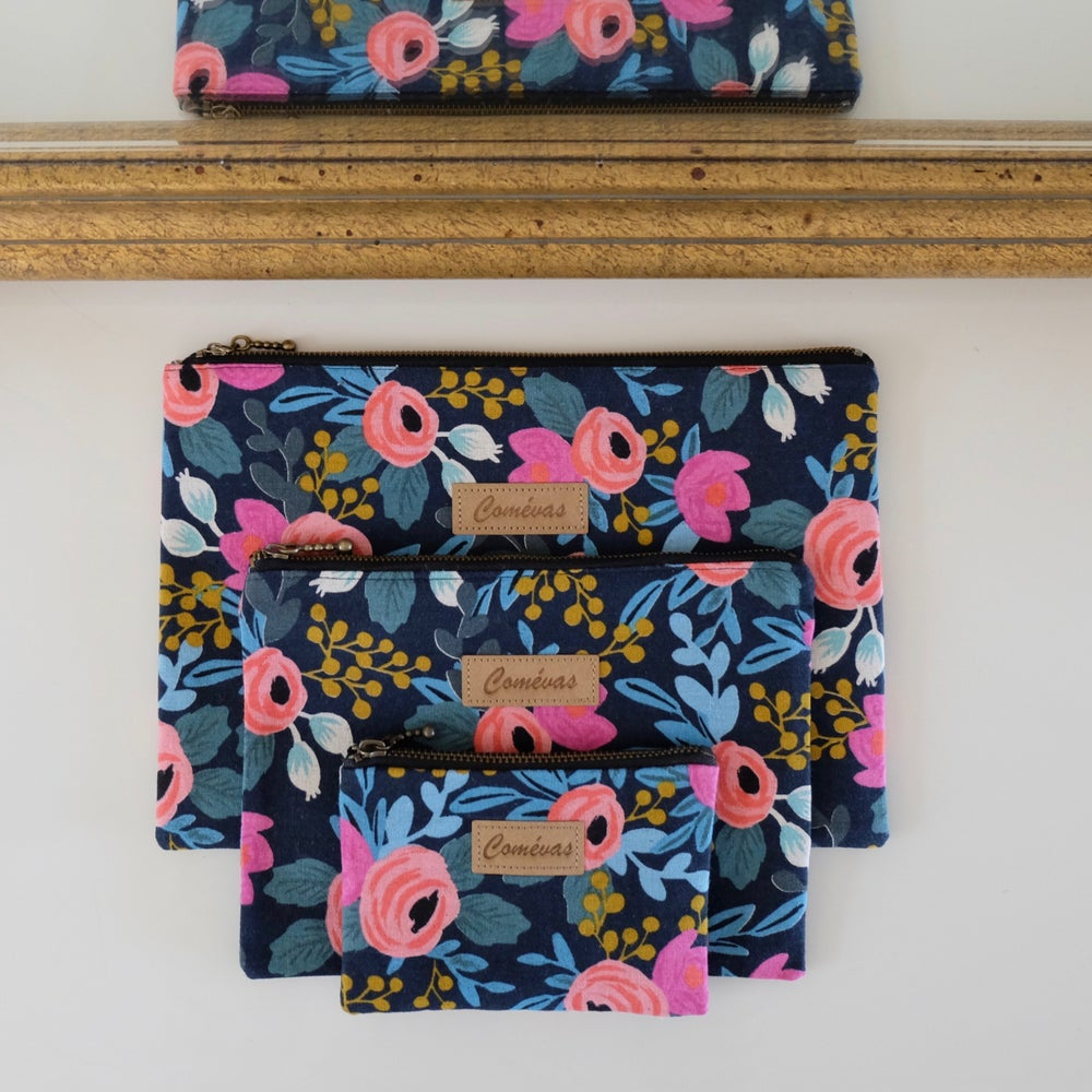 Image of Pochette Rosa Navy