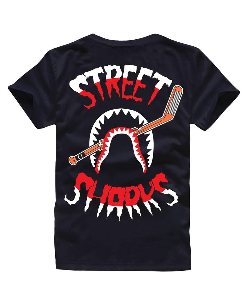 Image of STREET SHARKS TEE BLACK