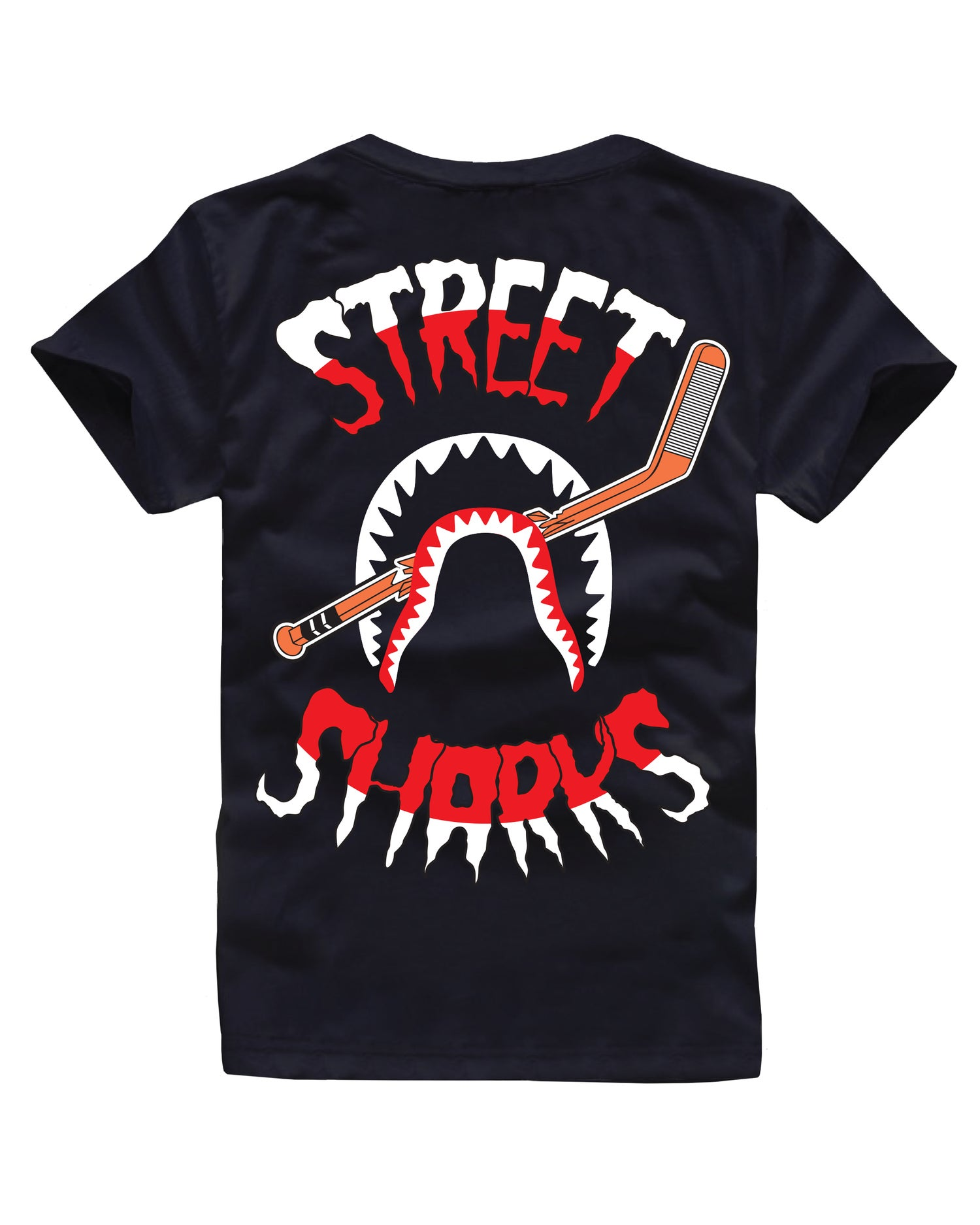 Image of STREET SHARKS TEE BLACK