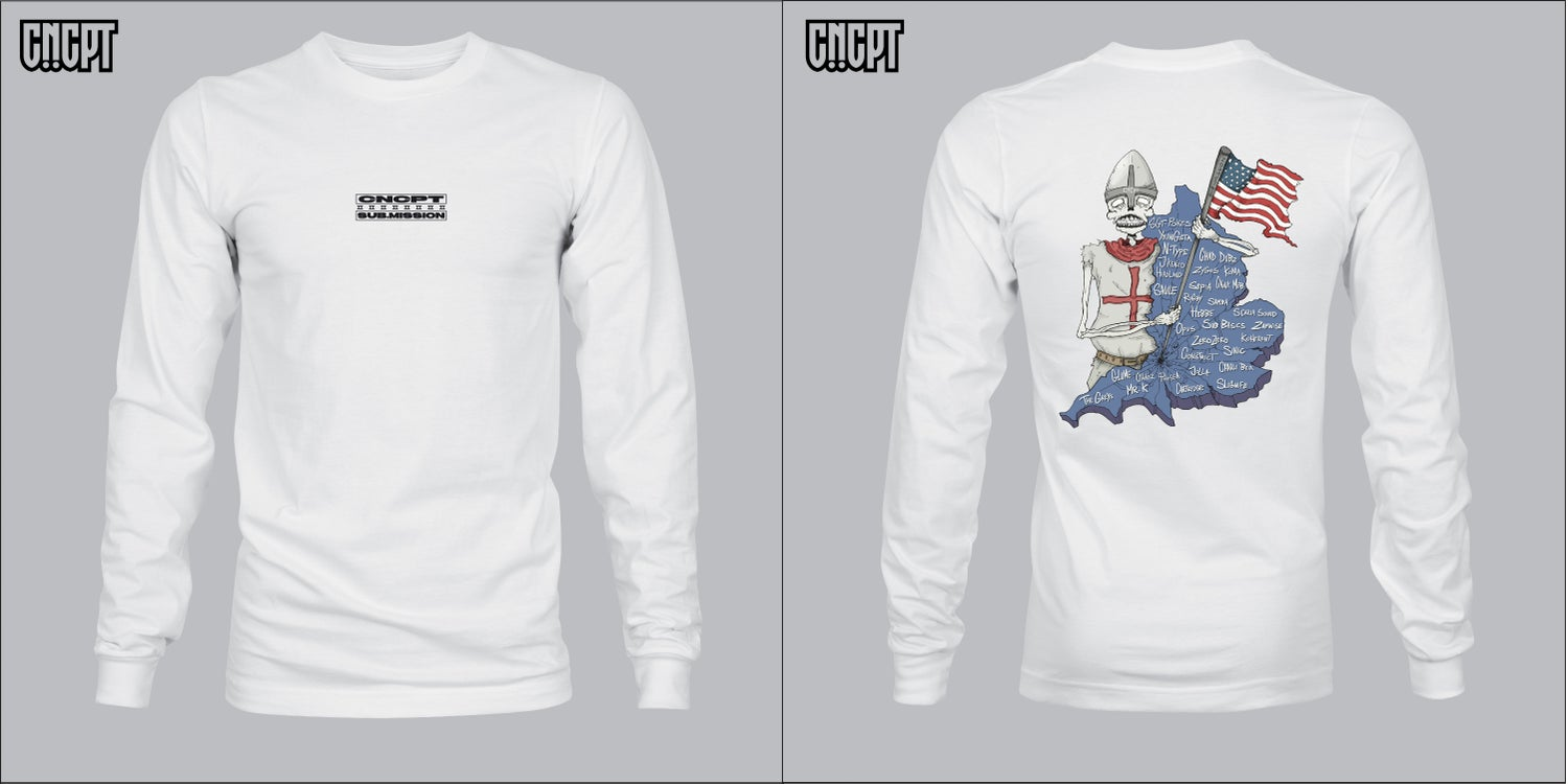 Image of CNCPT x Sub.Mission Long sleeve T shirt (White)