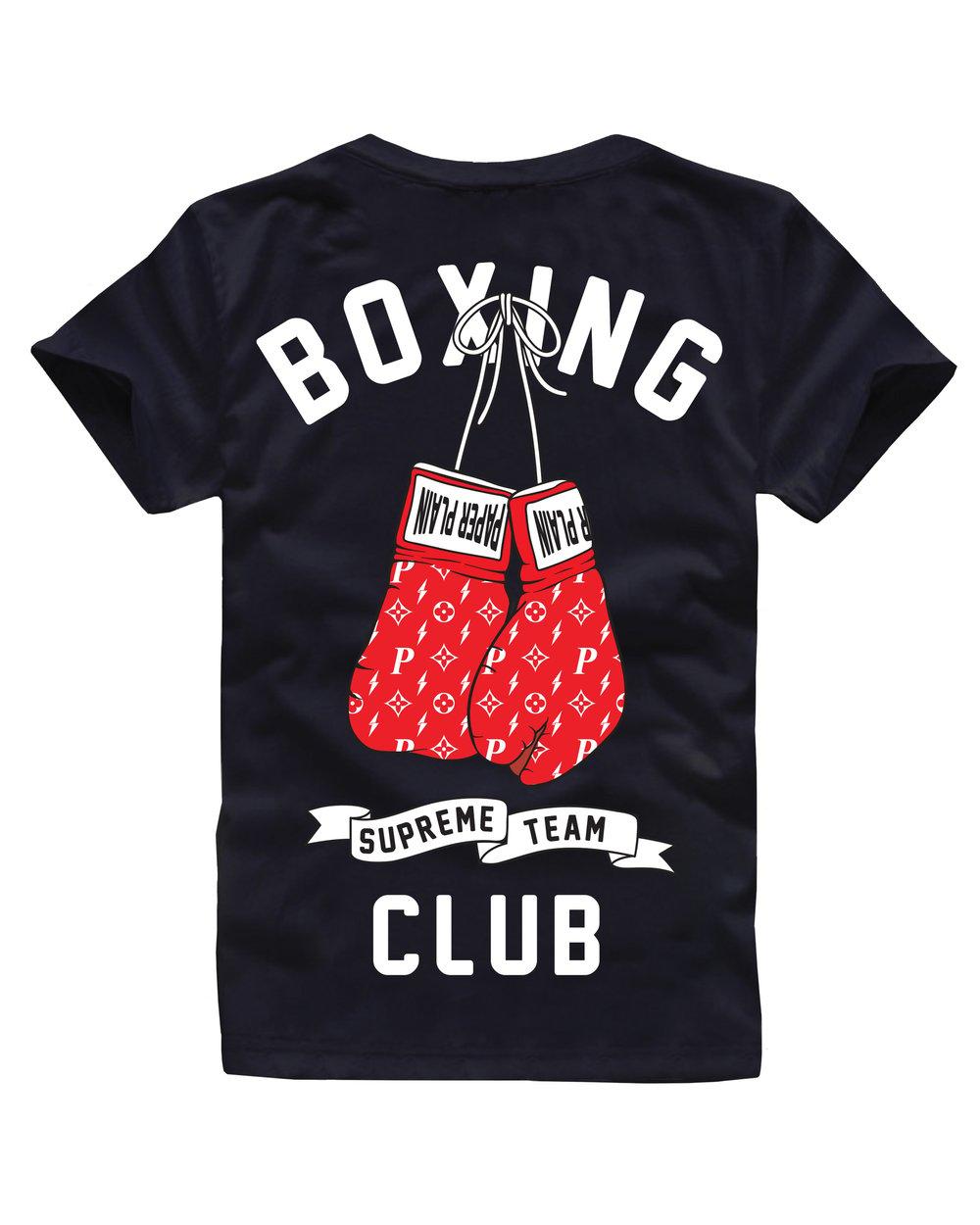 BOXING CLUB TEE BLACK