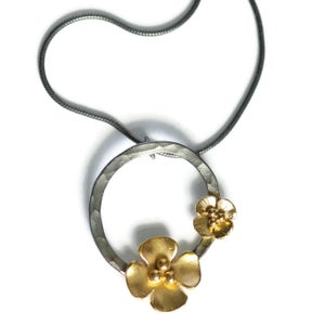 Image of Buttercup Hoop pendant