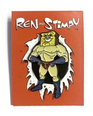 """Image of """"Powder Toast Man"""" Ren & Stimpy Pin"""