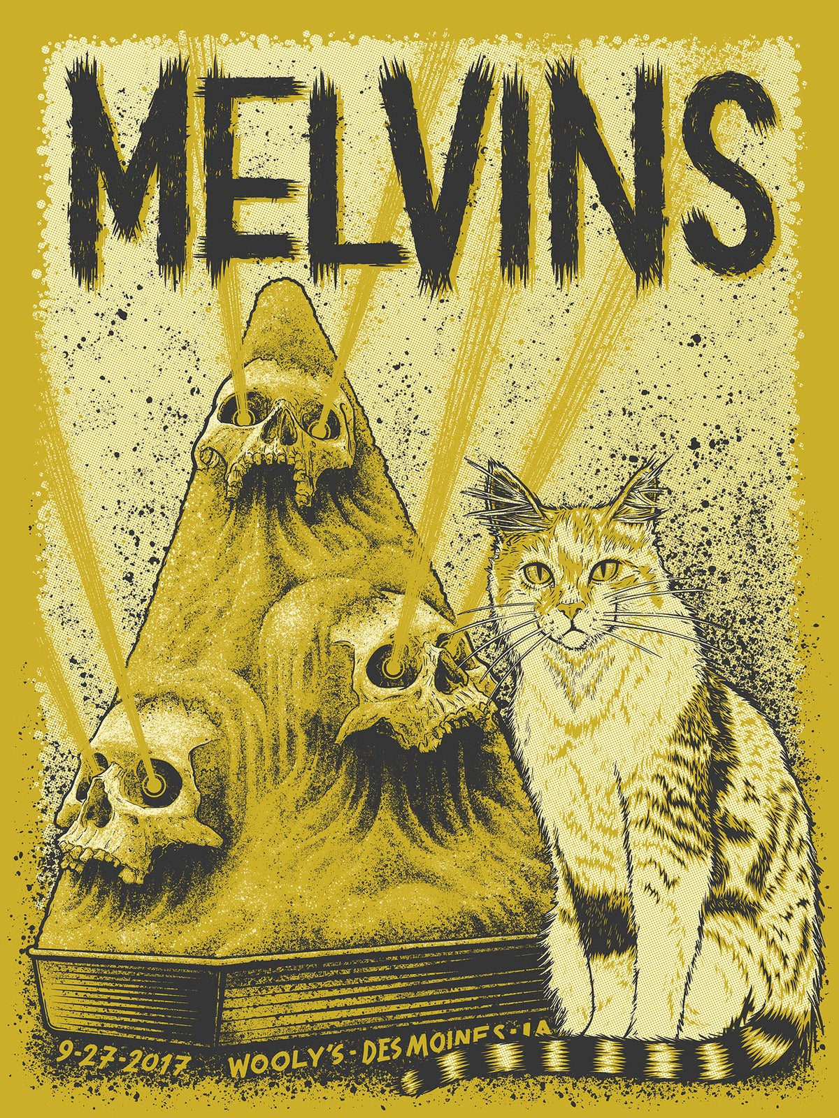 Image of Melvins, Wooly's, Des Moines, IA, 9/27/17