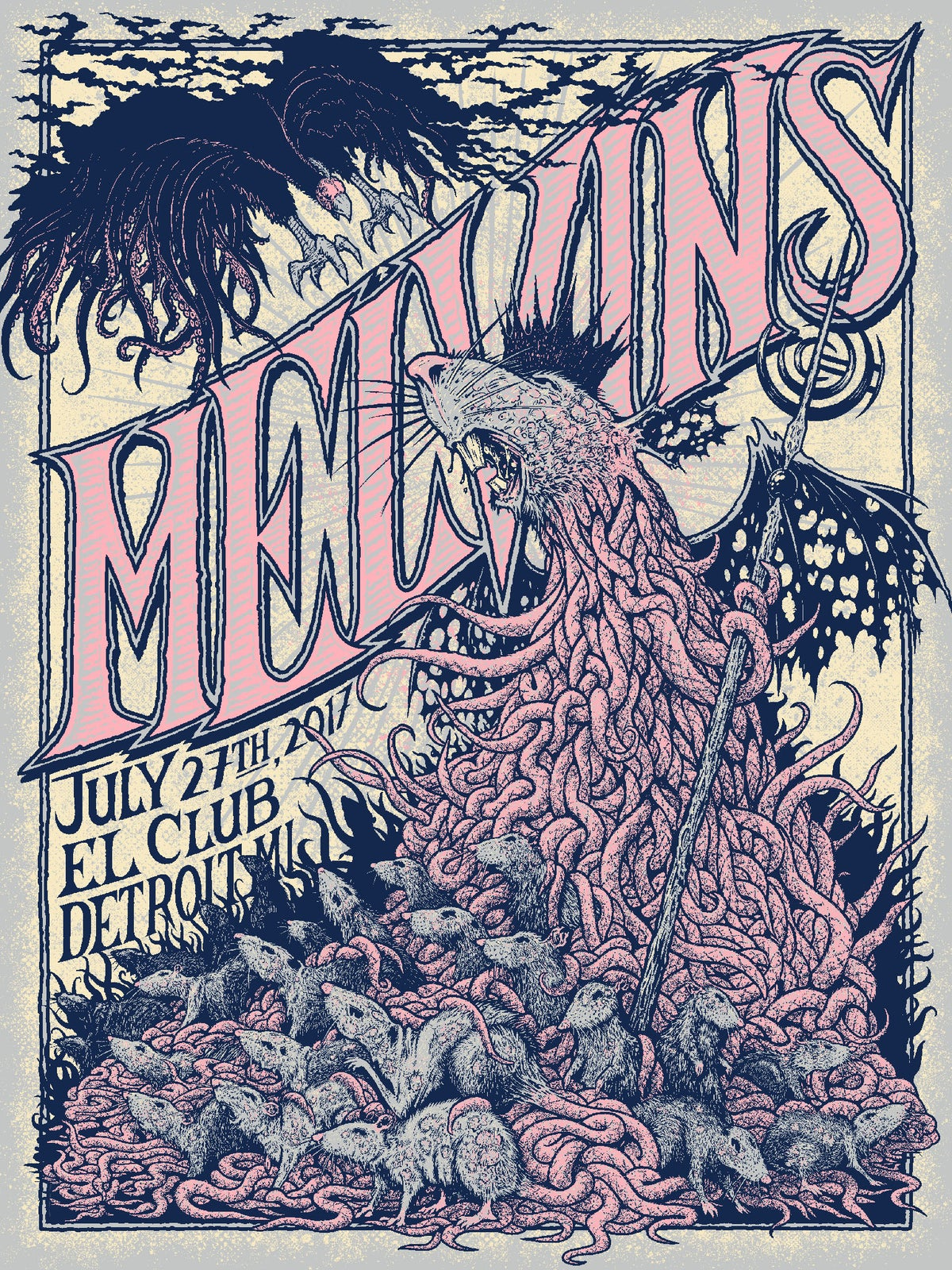 Image of Melvins, El Club, Detroit, MI 7/27/17
